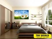 tranh treo tường đẹp the world