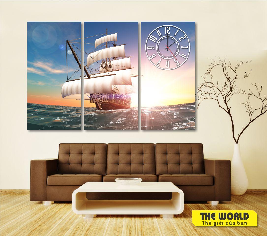tranh treo tường thuận buồm xuôi gió