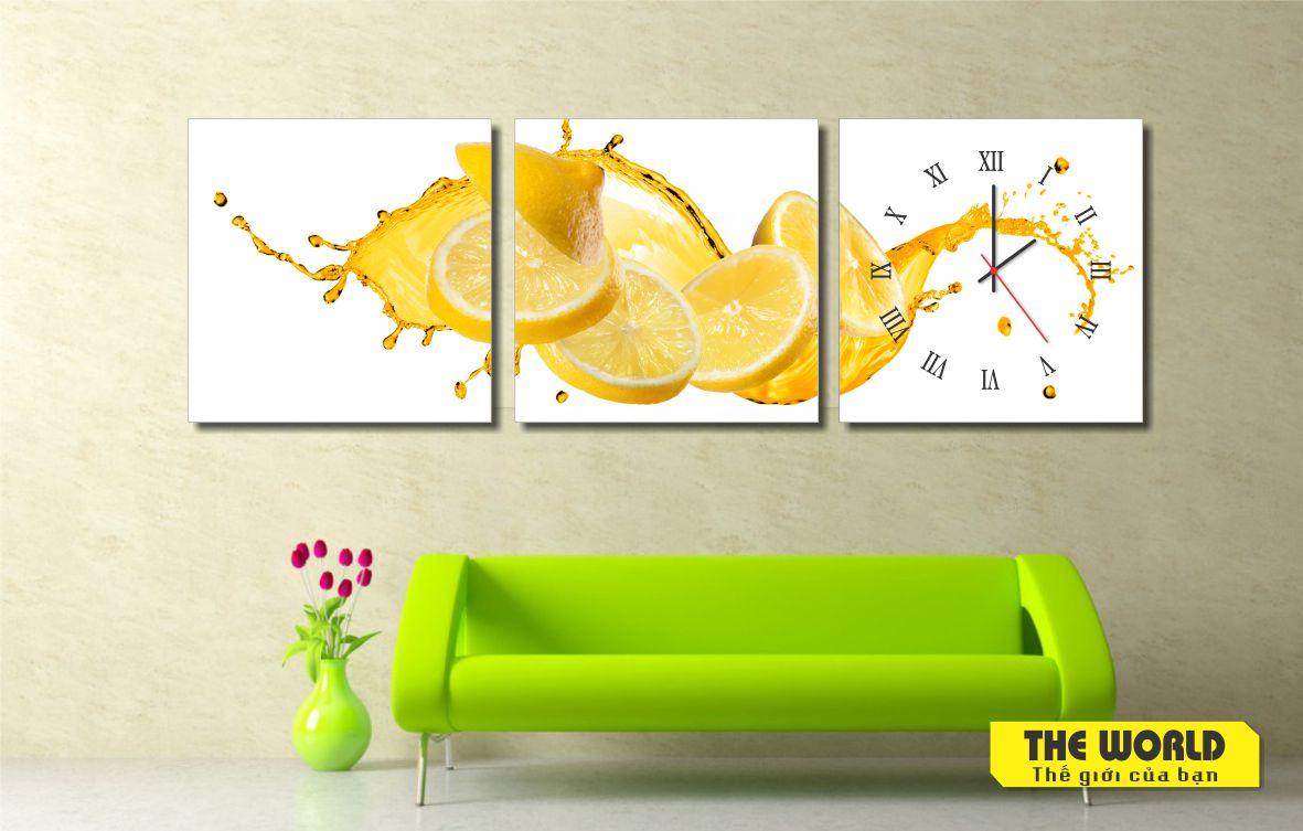 tranh đồng hồ thực phẩm