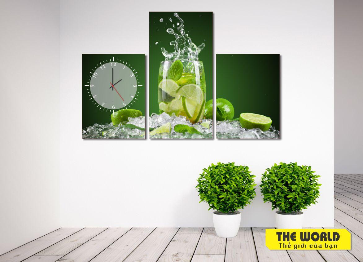 tranh đồng hồ chanh nước