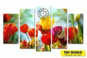tranh-dong-ho-treo tuong-hoa-tulip-1