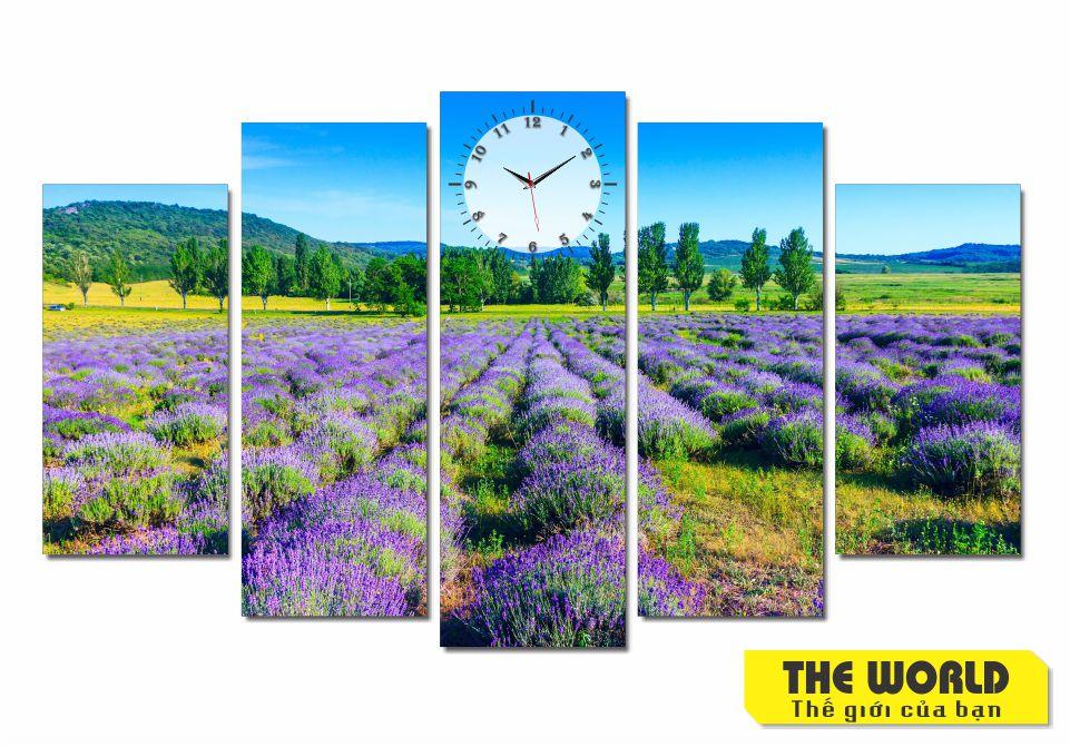 tranh đồng hồ treo tường phong cảnh đẹp
